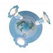 energie A++, Plafondlamp Dolfijn - hout 3 lichtbronnen, Elobra