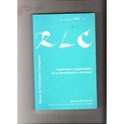 Revue De Litterature Comparée Juillet Septembre 1998 R L C Recherches Comparatistes De La Renaissances A Nos Jours