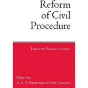 The Reform of Civil Procedure by Visiting Professor Ross Cranston