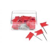 Markeervlaggetjes voor wandkaart Rood | Alco