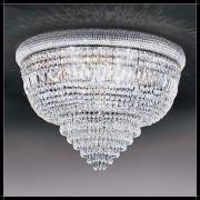 Luxus Kristall Deckenleuchte Osaka rund Empire Kronleuchter Nickel Farbe silb...