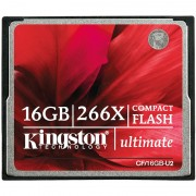 Cartão de Memória Kingston CF/16GB-U2 Ultimate 266X Compact Flash - 16GB