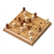 Philos 6491 - Gioco di strategia Mulino, in bambù, Green Games, versione da viaggio