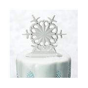 Glazed Porcelain Snowflake Cake Topper