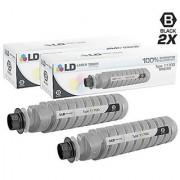 LD Compatible Ricoh 888260 / Type 1170D Set of 2 Black Laser Toner Cartridges for Ricoh Aficio Gestetner Lanier and Savin Printer Series