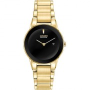 Citizen Gold Metal Round Dial Analog Watch For Women (GA1052-55E)