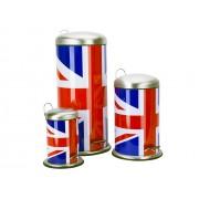 Pattumiera in acciaio Union Jack- da 3-5 -30 litri