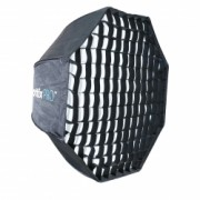 Phottix Pro Easy Up HD Umbrella Octa Softbox cu Grid 80cm