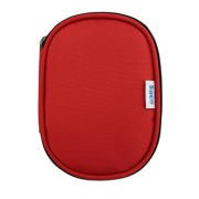 Saco Shock Proof External Hard Disk Case for WD My Passport Ultra 1TB Portable External Hard Drive, Black (WDBGPU0010BBK) - Red