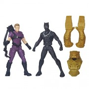 Hasbro Captain America Civil War Marvel's Hawkeye Vs Black Panther, Multi Color
