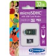 Integral INMSDH32G4NAUSBR 32GB micro SDHC Class 4 flashgeheugen