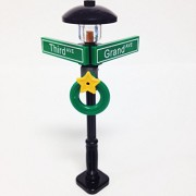 Lego City/Town STREET SIGN - LAMP POST Intersection of Third & Grand