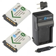 EforTek NP-BX1 Replacement Battery (2-Pack) and Charger kit Sony NP-BX1 NP-BX1/M8 and Sony Cyber-shot DSC-H400 DSC-HX50V DSC-HX300 DSC-HX400 DSC-RX1 DSC-RX1R DSC-RX100 DSC-RX100 II DSC-RX100 III DSC-RX100M2 DSC-RX100M3 DSC-WX300 DSC-WX350 HDR-AS10 HDR-AS1