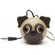 Boxa Portabila KitSound MyDoodle Characters Pug, Jack 3.5mm (Bej)