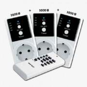 Kit de 3 enchufes inalámbricos control remoto, On /Off y temporizador