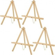US Art Supply 16 inch Tall Tripod Easel Natural Pine (Pack of 4 Easels)