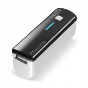 Външна батерия за телефон 2600 mAh (черна)