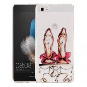 Huawei P8 Lite Red High-heel Shoes Pattern IMD Workmanship Soft TPU Protective Case