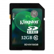 Memoria Kingston SDHC SD Clase 10 32GB-Negro