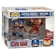 Funko Marvel Funko POP! Marvel Captain America & Iron Man Exclusive Vinyl Bobble Head 2-Pack