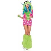 Vegaoo Rosa Monster-Fantasie-Kostüm für Damen