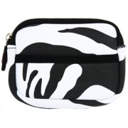 Black And White Zebra Neoprene Portable Headphone Case For Bluetooth Jam Transit Mini Wireless Earbuds