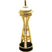 Objet DArt Release #327 The Space Needle Seattle Landmark Handmade Jeweled Metal & Enamel Trinket Box