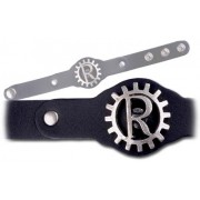 Rage Against Machine Logo Leather Wristband