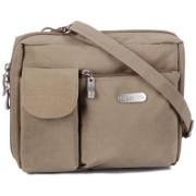 Baggallini Wallet Bag Messenger Bag, Beige (Khaki)