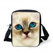 FORUDESIGNS Brand Animal Denim Cat Messenger Bag for Women Mini Lady Girls Crossbody Bag Casual Small Teen Kids Messenger Bag