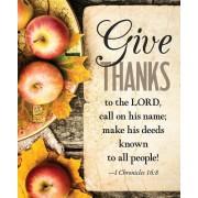 Give Thanks Apples Thanksgiving Bulletin Large (Pkg of 50)