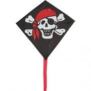 """HQ-Invento Aquilone Mini Eddy """"Jolly Roger"""", aquilone monofilo, dimensioni 30 x 30 cm"""