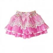 Tutu suknička nariasená ružová
