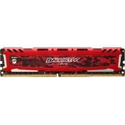 Ballistix Sport LT 8GB Single DDR4 2400 MT/s (PC4-19200) DIMM 288-Pin Memory - BLS8G4D240FSE (Red)
