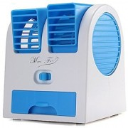 Mini Fan Portable Dual Bladeless Small Air Conditioner Water Air Cooler Powered By Usb Use Of Car/Home/Office