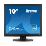 iiyama ProLite E1980SD-B1 19' LED LCD 1280x1024 speakers VGA DVI 250cd/m² 12M:1 ACR 5ms TCO6