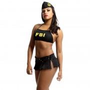 Fantasia Erótica Policial Sexy FBI de Mini Saia - VT076