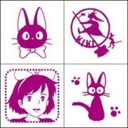 Kikis Delivery Service Stamp Set (4 Wooden Stamps And 1 Stamp Pad) (Japan Import)