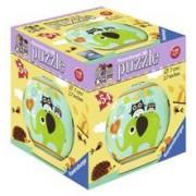 Puzzle 3D Bufnita Si Elefant, 54 Piese