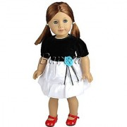 Barwa Outdoor Casual Outfit /Wear Dresses Clothes Fits 18 Inches American Girl Dolls Xmas Gift
