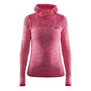 Hanorac dama Craft Core Hood Seamless Pink, material functional