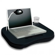 Mesa Apoio de Notebook 10 Almofadada WMT6123V Porta Copo, Caneta e Lâmpada 8 Leds