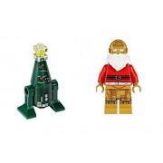 Lego C-3PO Santa and R2 Christmas Tree Minifigures Star Wars Lego Holiday