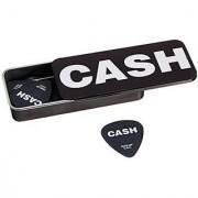 Dunlop JCPT04H Johnny Cash Bold Pick Tin Assorted Medium 6 Picks/Tin