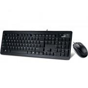 GENIUS SlimStar C130 USB YU crna tastatura+ USB crni miš