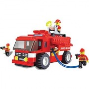 Fire truck emergency series building blocks 180pcs play set - vehicle rush and rescue the burning state city with the everyday heroes good toy for children - great educational toy - compatible bricks