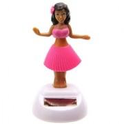 Solar Powered Dancing Hula Girl with Pink Skirt