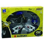 NewRay 42285 - Moto Suzuki GSX-R 1000 kit modelo, Escala 1:12, Die Cast, azul