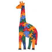 Smile Baby YKK juguete 3d de puzzles de madera de construcción construcción Madera Puzzle multicolor Hirsch Talla:Größe:15cm*40cm