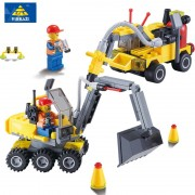 KAZI Toys For children Gift Construction Excavator Building Blocks Sets Model Gifts Toys Educational Classic Boys brinquedos Toy